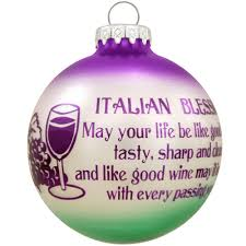 wine glass christmas ornaments italian blessing wine glass ornament blessings prayers