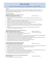 How To Write Professional Summary For Resume Firefighter Resume Emt Resume Emt Resume Sample Bridal Shower