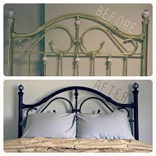 Paint Metal Bed Frame Interior Shareapy Metal Bed Frame Makeover