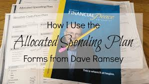 how i use the allocated spending plan forms from dave ramsey youtube