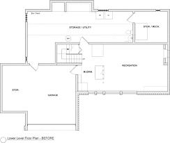 sleek mid century basement with a twist bluestem construction