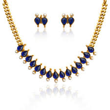 blue pearl necklace images Buy blue pearl necklace sets pearl south indian adiva jewellery jpg