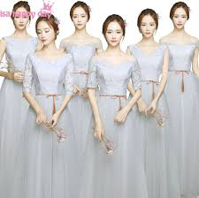 fitted bridesmaid dresses compare prices on grey gray bridesmaid dress shopping buy