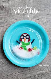 plastic plate snow globe 1 paper plate and 1 plastic plate snow