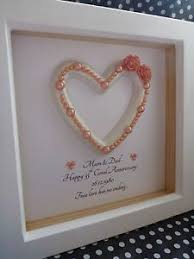35th wedding anniversary gifts luxury frame 35th coral wedding anniversary gift present