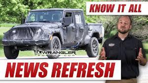 jeep wrangler pickup spotted testing everything we know about the new jeep wrangler pickup truck jt