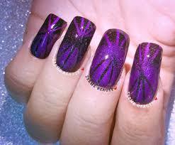 black u0026 purple opposite gradient nail art using striping tape