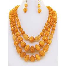 orange beaded necklace images Orange graduated bead necklace set jpg