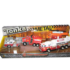 tonka fire rescue truck tonka diecast vehicles 4 pack first responders shelcore toys