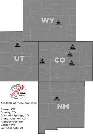 Colorado New Mexico Map by Municipal Industry Power Equipment Company