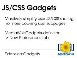gadgets definition hacking mediawiki