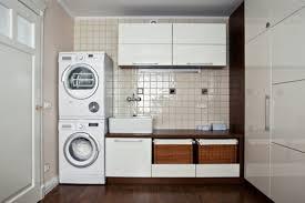 contemporary laundry and bathroom design