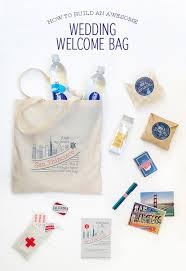 welcome wedding bags how to build an awesome wedding welcome bag snippet ink