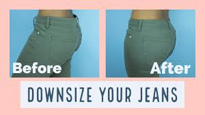 how to downsize how to downsize your jeans in 30mins sewaddicts youtube