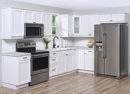 menards stock white kitchen cabinets klëarvūe l shaped kitchen w 10 cabinet cabinets only at