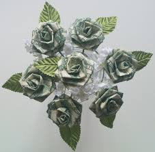 money flowers origami money for wedding party favors anniversary
