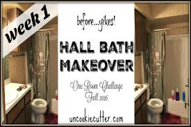 Challenge Fall In Bath Bath Makeover One Room Challenge Week 1 Uncookie Cutter