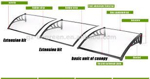 Polycarbonate Window Awnings Yp100240 100x240cm 39x94 5in Depth 100cm Door Window Canopy
