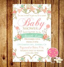 shabby chic baby shower shabby chic baby shower invitation and mint baby