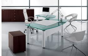 Modern Glass Office Desks Comfortable Glass Office Desk Thedigitalhandshake Furniture