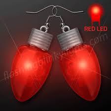 led earrings led light bulb christmas earrings at