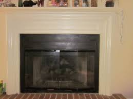 Contemporary Fireplace Doors by Glass Fireplace Doors In Black Fireplace Makeover Part 2 Painting