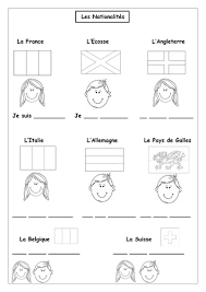 french countries u0026 nationalities les pays simple worksheet