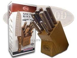 xx kitchen knives xx 9 wooden block walnut stainless kitchen knife set