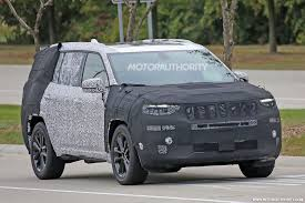jeep grand wagoneer concept 2019 jeep 3 row suv yuntu spy shots