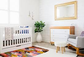Modern Nursery Rug Scandinavian Modern Baby Nursery Design With Ethnic Patterned Area
