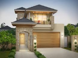narrow lot house plans garage in front