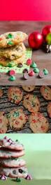 chocolate christmas cookies recipe green red hersheys swirl chips