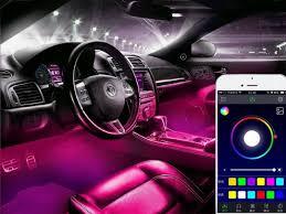 app controlled car lights app controlled led car interior interior lighting kit gadget hunts