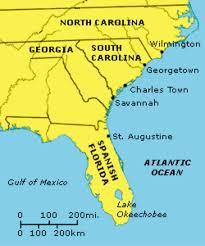 Florida On Map by Georgia By Michael Batchev