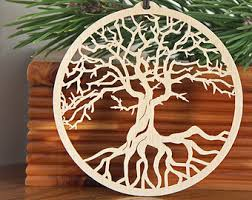 wooden ornaments etsy
