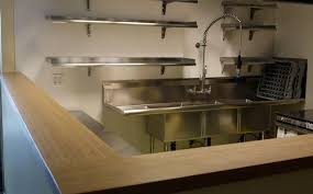 Commercial Kitchen Faucet For Home Perfect Commercial Kitchen Countertops For Your Home Remodel Ideas