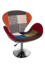 patchwork chair tulip egg armchair seat retro lounge dining