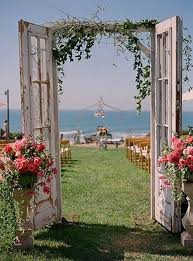 wedding backdrop doors wedding doors backdrop doors and a floral arrangement