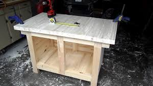 Woodworking Bench Top by Attaching The Bench Top With Pocket Hole Screws Youtube