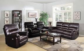 Recliner Chair With Speakers Dark Brown Power Living Room Set With Speaker Dark Brown Faux