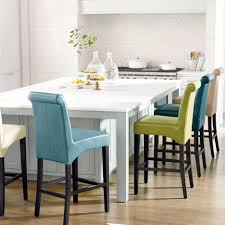 Blue Yellow Kitchen - beige blue yellow valencia bar stools white island with solid