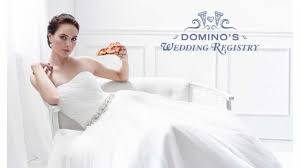 domino u0027s pizza now has a cheesy wedding registry sfgate