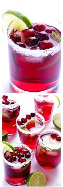 a non alcoholic sparkling cranberry lime pomegranate beverage