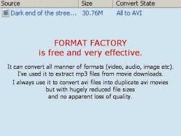 format factory reducing files sizes of avi movies youtube