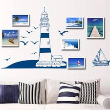 removable wall sticker blue sailing boat tower photo art decals removable wall sticker blue sailing boat tower photo art decals mural diy wallpaper for room decal 22 5 50cm wall stickers art decor decals bedroom wall
