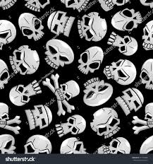 halloween wallpaper pattern skulls seamless pattern background scary eerie stock vector