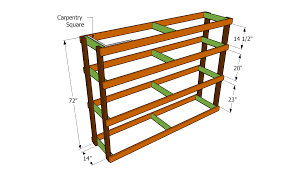 how to build garden shelves wooden crate plans diy garage