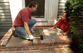 How To Regrout Patio Slabs How To Install A Bluestone Landing On A Front Entry This Old House