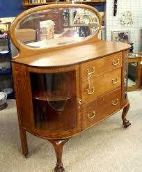 beautiful curved glass oak buffet antiques u0026 vintage treasures