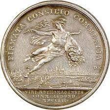 chambre de commerce de rouen vso louis xv médaille de la chambre de commerce de rouen 1752